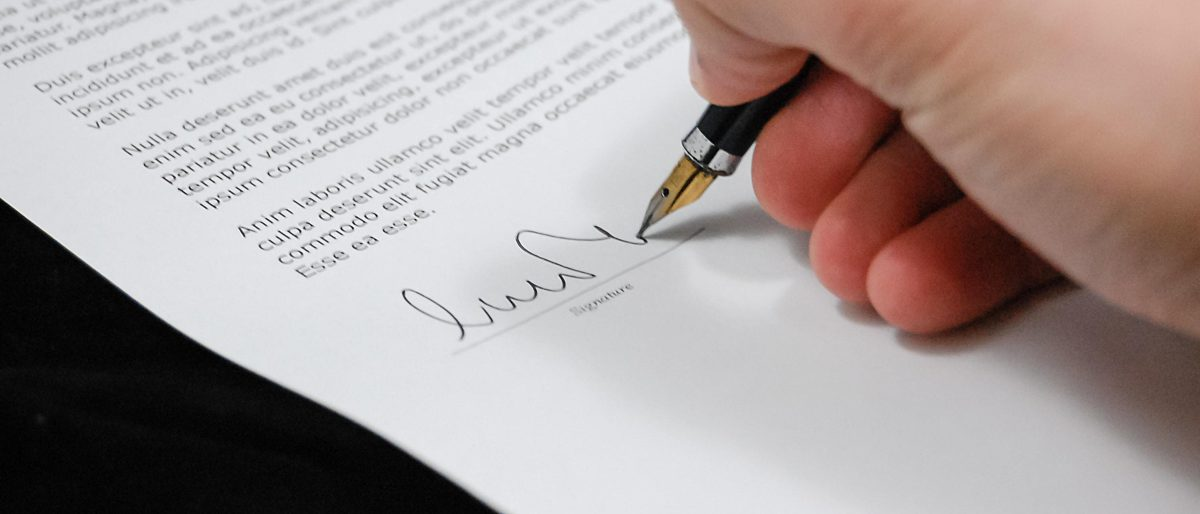 Sign pen business document 48148