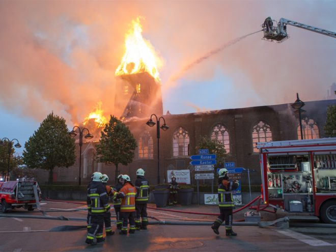 Kerk Anzegem Brand